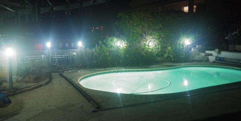 House - pool night
